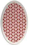 rug #782760 | oval red borders rug