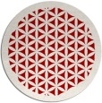 rug #782768 | round red borders rug
