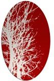 rug #782825 | oval red natural rug