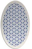 rug #782925 | oval blue borders rug