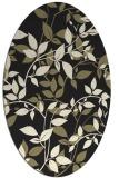 rug #783030   oval black natural rug