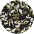 rug #783038 | round black natural rug