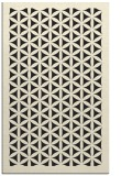 rug #783094 |  black borders rug