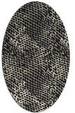 rug #783110 | oval black natural rug