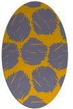 rug #783302 | oval retro rug