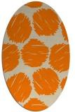 rug #783465 | oval orange circles rug