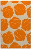 rug #783469 |  orange circles rug