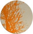 rug #783493 | round orange rug
