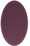 rug #783915 | oval purple traditional rug