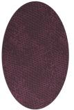rug #783935 | oval purple animal rug