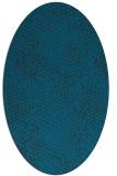 rug #784100 | oval blue animal rug