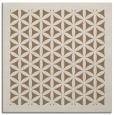rug #784261 | square mid-brown borders rug