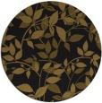 rug #784523 | round black natural rug