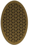 rug #784575 | oval mid-brown borders rug