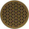 rug #784583   round mid-brown borders rug
