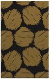 rug #784624 |  mid-brown circles rug