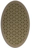 rug #784740   oval mid-brown borders rug