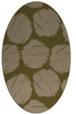 rug #784785 | oval brown graphic rug