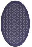 rug #784905   oval blue-violet borders rug