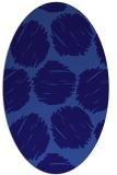 rug #785280 | oval blue-violet retro rug
