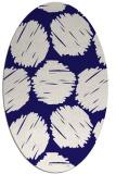 rug #785283 | oval circles rug