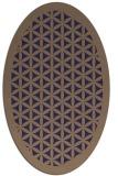 rug #785400 | oval blue-violet traditional rug