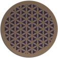 rug #785408 | round beige borders rug