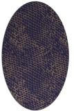 rug #785420 | oval blue-violet animal rug