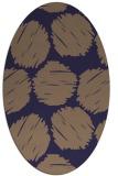 rug #785445 | oval blue-violet circles rug