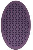 rug #787125 | oval blue-violet borders rug