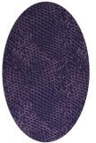 rug #787145 | oval purple animal rug