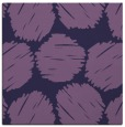 rug #787186 | square purple circles rug