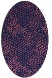 rug #787830   oval blue-violet animal rug