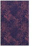 rug #787834 |  blue-violet animal rug