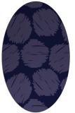 rug #789040 | oval blue-violet circles rug