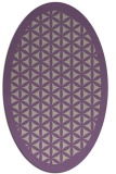 rug #790365 | oval beige geometry rug