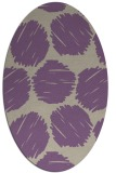 rug #790410 | oval purple circles rug