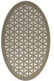 rug #791050 | oval white borders rug