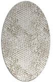 rug #791070 | oval white animal rug