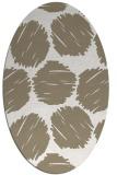 rug #791095 | oval beige circles rug