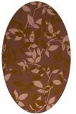 rug #796520 | oval mid-brown natural rug