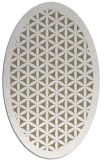 rug #797265 | oval white traditional rug