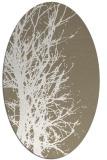 rug #797330 | oval white popular rug