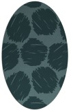 rug #799035 | oval blue-green circles rug