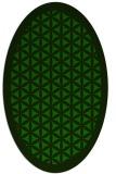 rug #799675 | oval green borders rug