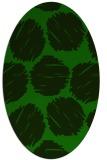 rug #799720 | oval green circles rug