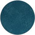 rug #800388 | round blue-green animal rug