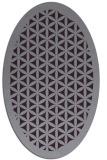 rug #801045 | oval purple traditional rug
