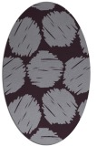 rug #801090 | oval purple rug