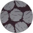 rug #801098 | round purple graphic rug